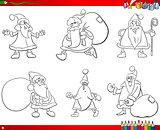 santa claus set coloring book