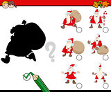 shadows game with santa