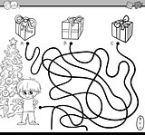 path maze task for coloring