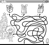 path maze bame coloring page