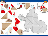 jigsaw puzzle with santa