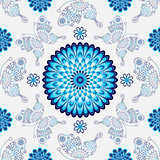 Seamless white pattern with vintage