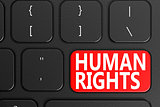 Human Rights on black keyboard