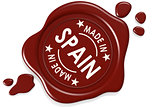 Label seal of made in Spain