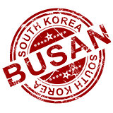 Red Busan stamp