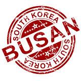 Red Busan stamp