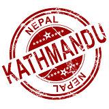 Red Kathmandu stamp