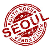 Red Seoul stamp
