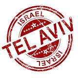 Red Tel Aviv stamp