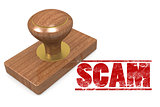 Scam wooded seal stamp