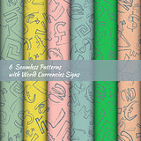 Set of Seamless Pattern with Money Signs