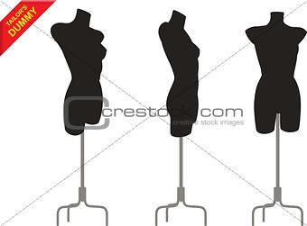 Three tailor dummy