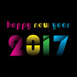 happy new year 2017 design