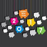 happy new year 2017 design