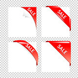 Sale Red Corner collection. Business Ribbons on white Backgrounds