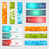 Site Banner Collection. Polygon and Blurred Effects. Headers. Hero Backgrounds