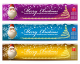 vector set of Christmas banners