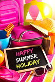 Happy summer holidays card