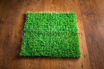 Artificial turf tile