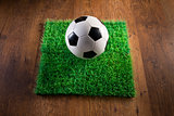 Soccer turf on hardwood floor