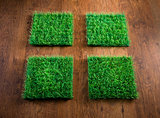 Artificial turf tiles