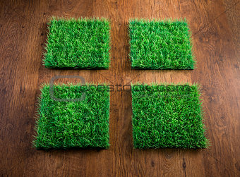 Artificial turf tiles