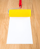 Paint roller with white copyspace