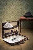 Vintage businessman briefcase
