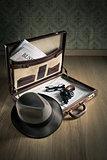 Detective's vintage briefcase
