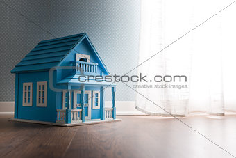 Blue model house