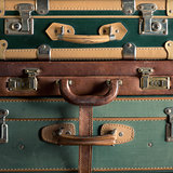 Colorful vintage suitcases