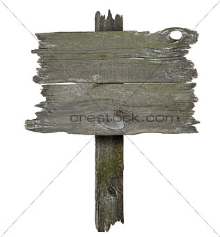 Old wooden banner