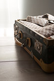 Packing a vintage suitcase