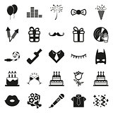 simple black Party and Celebration icon set