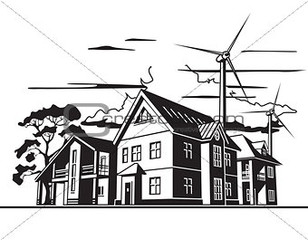 country houses, alternative energy