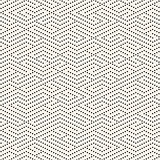 Vector Seamless Black and White Dotted Lines Maze Pattern