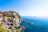 Manarola in Cinque Terre, Italy - July 2016 - The most eye-catch