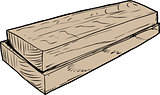 Sketch of wooden boards