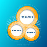 Abstract creative website design template