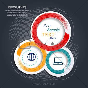 Abstract creative website design template