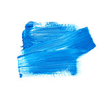 Blue vector watercolor paint stain