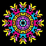 Colorful vector abstract mandala