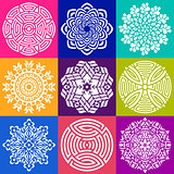 Geometric abstract mandala vector illustrations