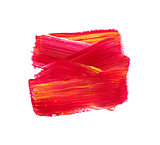 Red vector watercolor paint stain