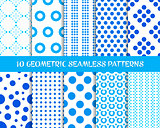 Vector geometric seamless dot patterns