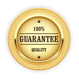 Golden medal - 100% quality guarantee symbol