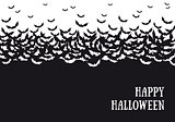 Halloween bats background, vector