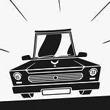 Vector Symbol Car