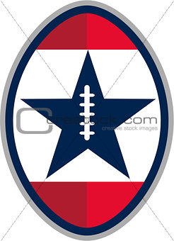 American Football Ball Star Stripes Retro