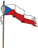 Flag Czech Republic Torn Ripped Retro